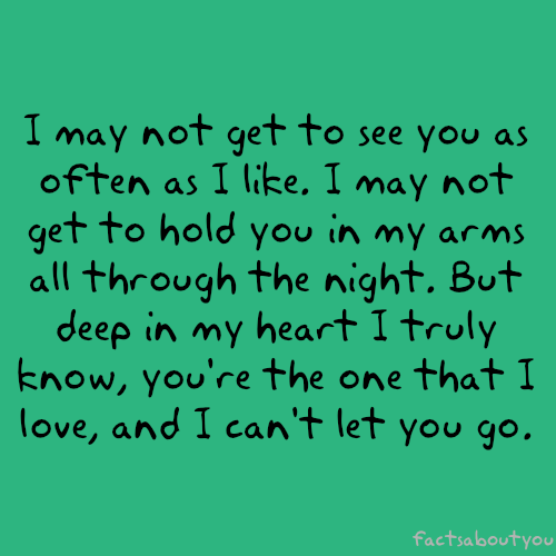 It Is So Hard To Be Apart And Away And Across A Border From You But