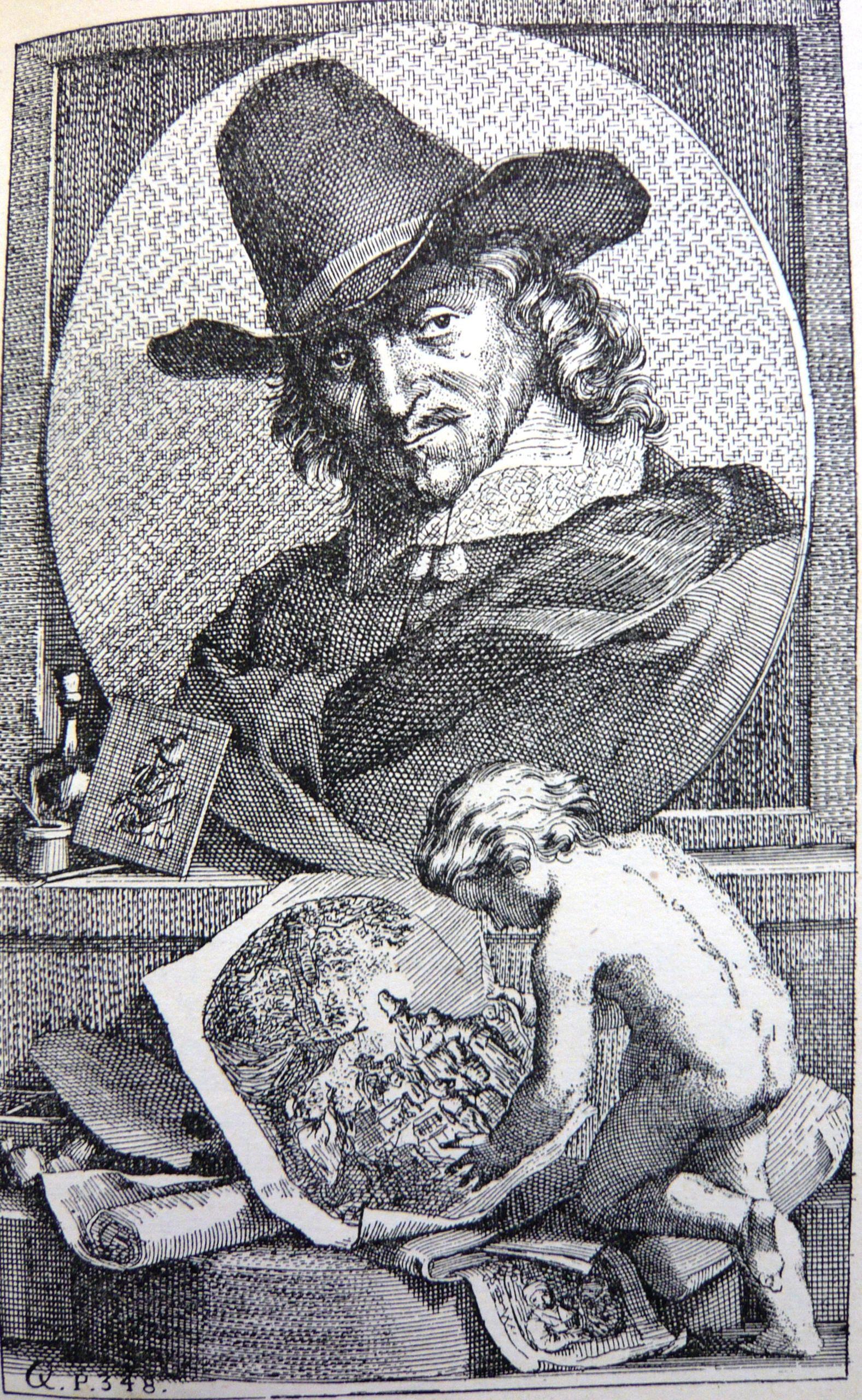 paysage avec sportif de Arnold Houbraken (1660-1719