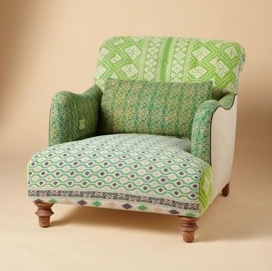 Merveilleux One Of A Kind Benazir Sari Armchair Eclectic Armchairs