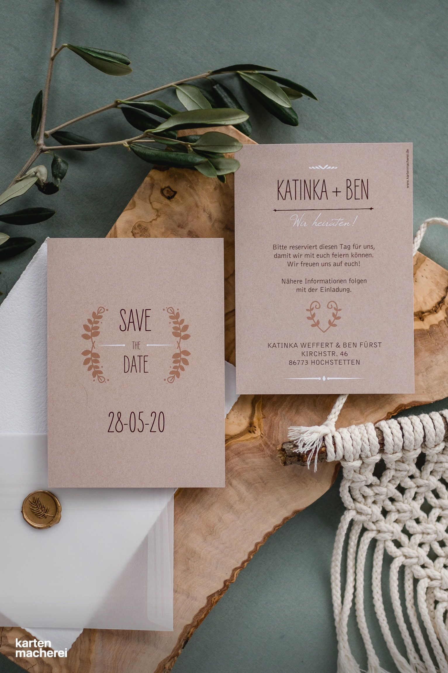 Save The Date Karte Rustic Love In 2020 Save The Date Save