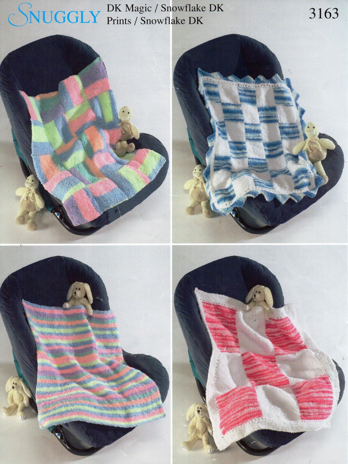 Baby Blankets Knitting Pattern PDF Patchwork Squares Cot Cover Pram ...