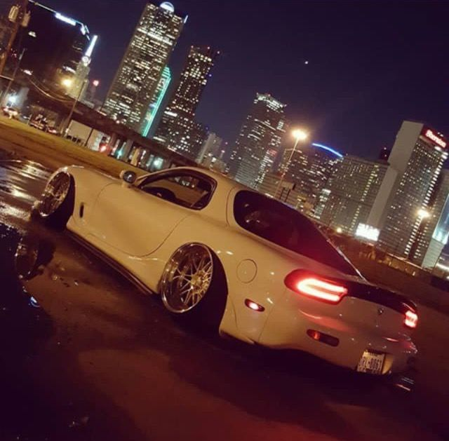 mazda rx7_fd modified slammed lowered stance