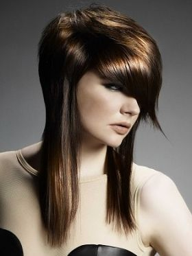 Possible style if I decide to cut my hair again! Very sexy and vibrant.