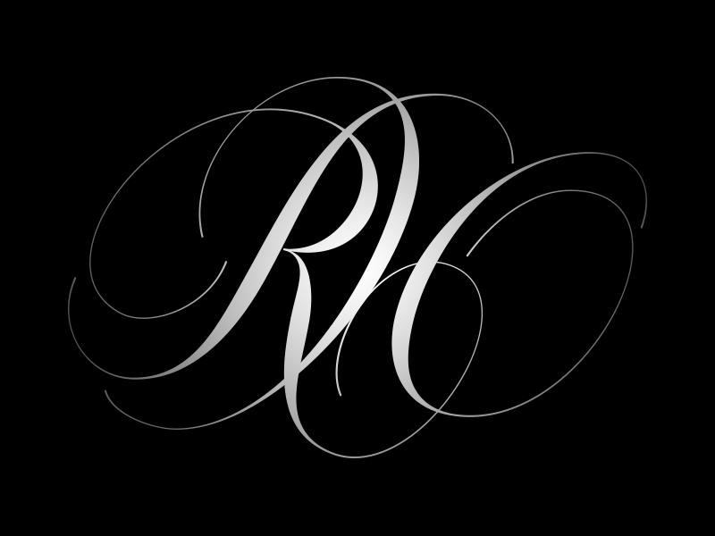 RH Monogram Tattoo lettering, Monogram, Initials logo