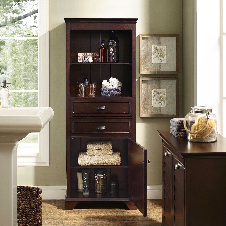 Lydia Tall Cabinet In Espresso Bathroom Tall Cabinet Tall Bathroom Storage Tall Cabinet