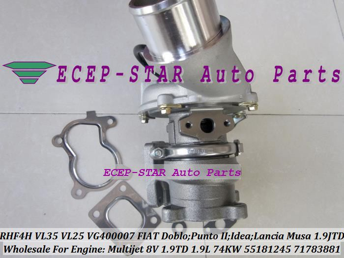 Rhf4h Vl25 Vg400007 55181245 71783881 Vl35 Turbo Turbocharger For Fiat Doblo Punto Ii Idea Lancia Musa 1 9 Jtd Multijet 8v 1 Fiat Doblo Auto Replacement Parts