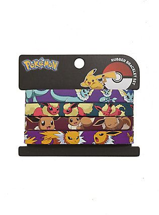 Loungefly Pokemon Rubber Eevee Evolutions Bracelet Set