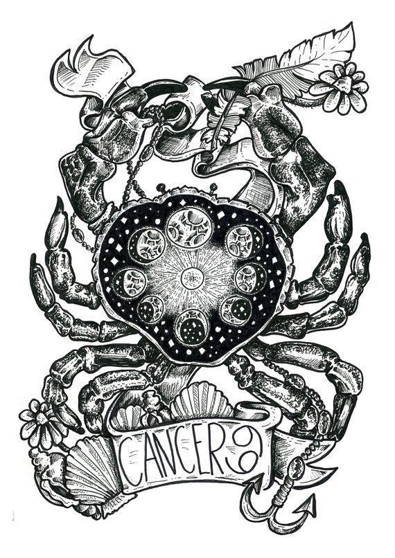 Cancer Crab Tattoo Cancer Tattoos Horoscope Tattoos