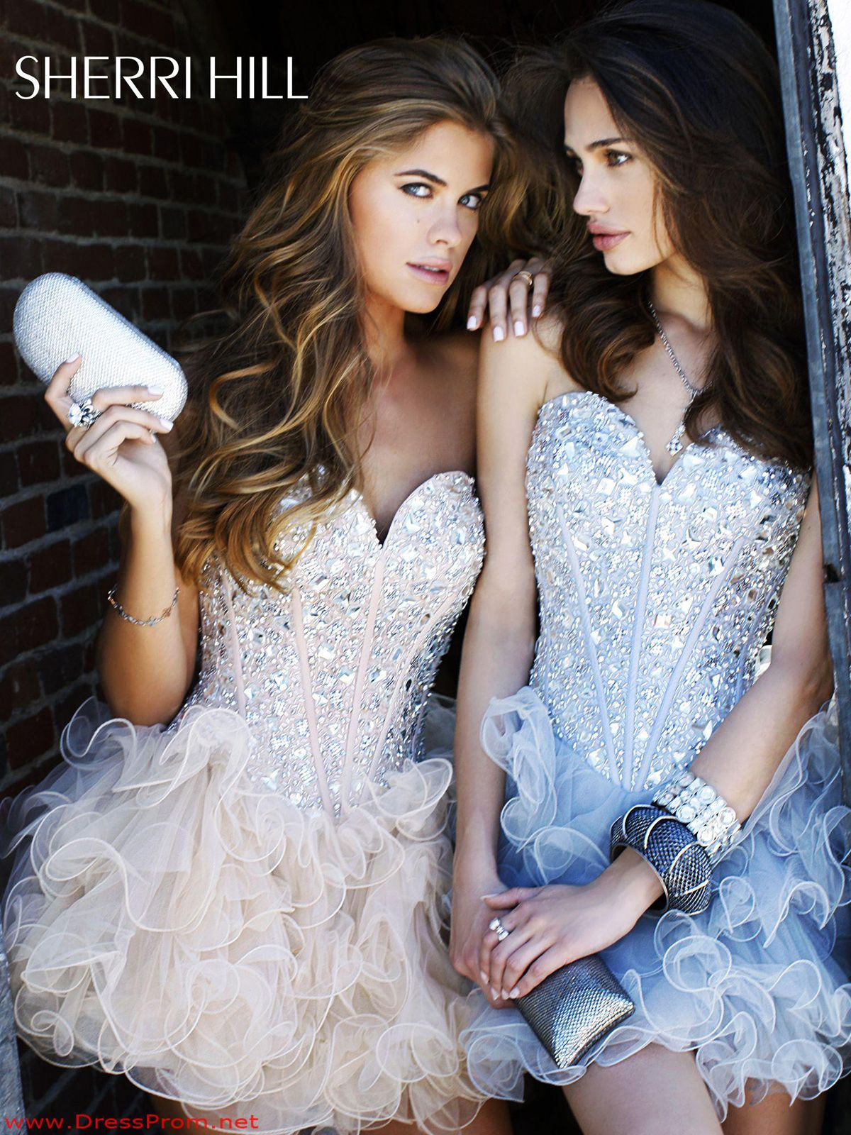 Get the edgy princess look in this sherri hill prom dress this