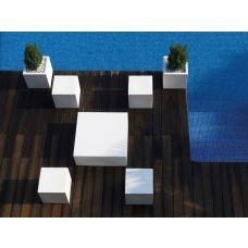 Vondom Quadrat Lounge Liege/Matratze 240 Cm Inkl. 4 Kissen 50 × 50 Cm