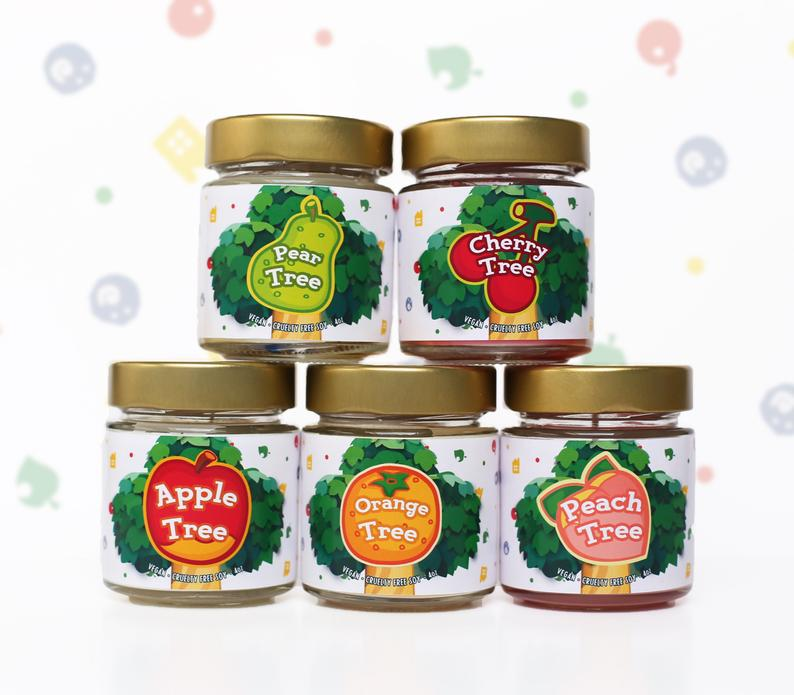 Town Fruit Tree ANIMAL CROSSING INSPIRED 4 oz Candle