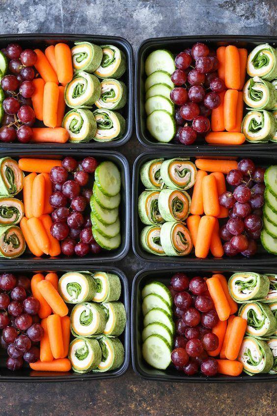 Turkey Spinach Pinwheels Meal Prep #healthyfoodprep