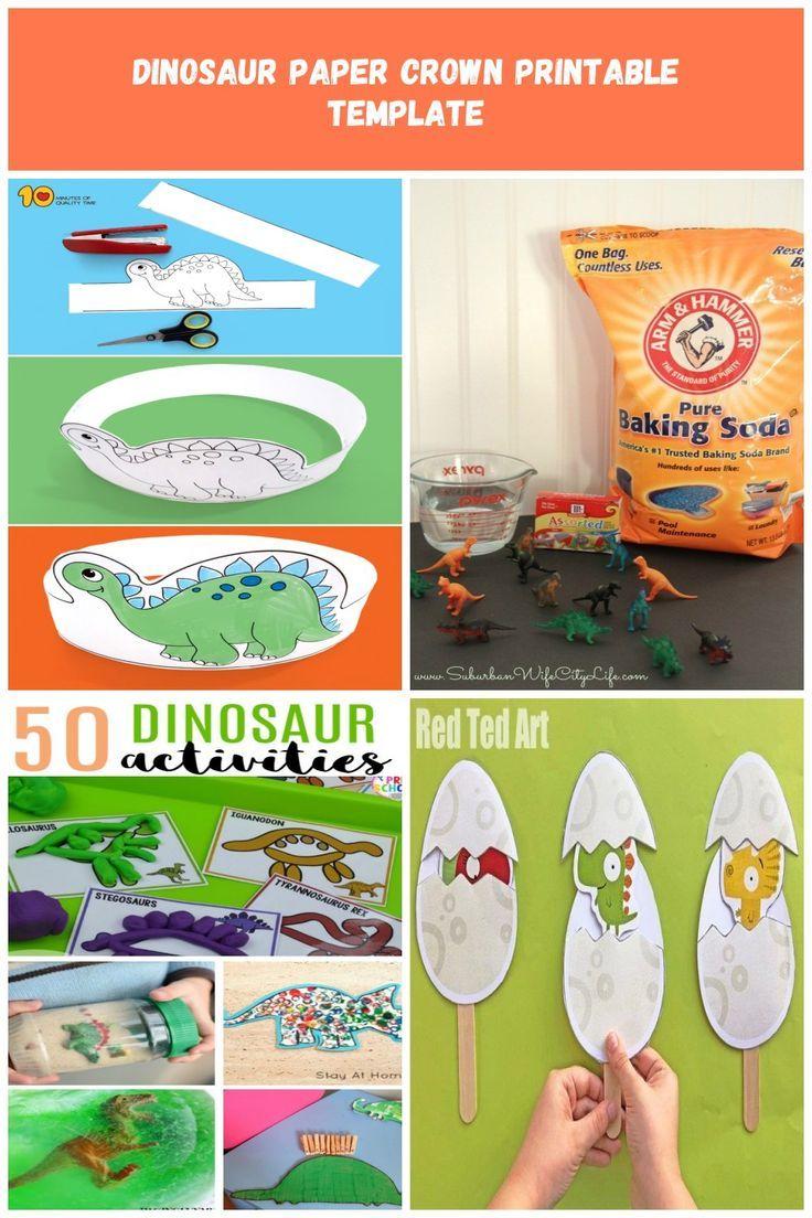 Dinosaur Paper Crown Printable Template Dino Crown Printable