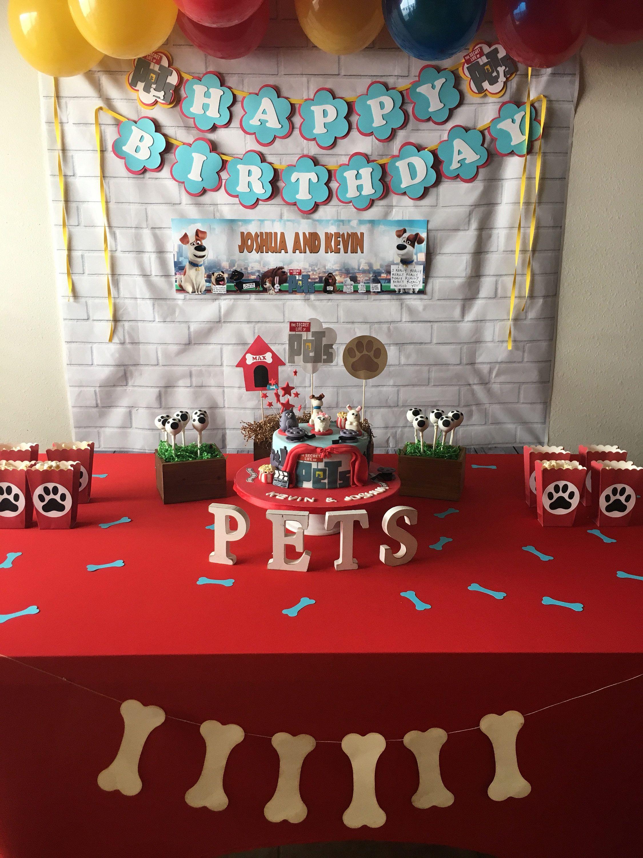 secret life of pets centerpiece, secret life of pets party