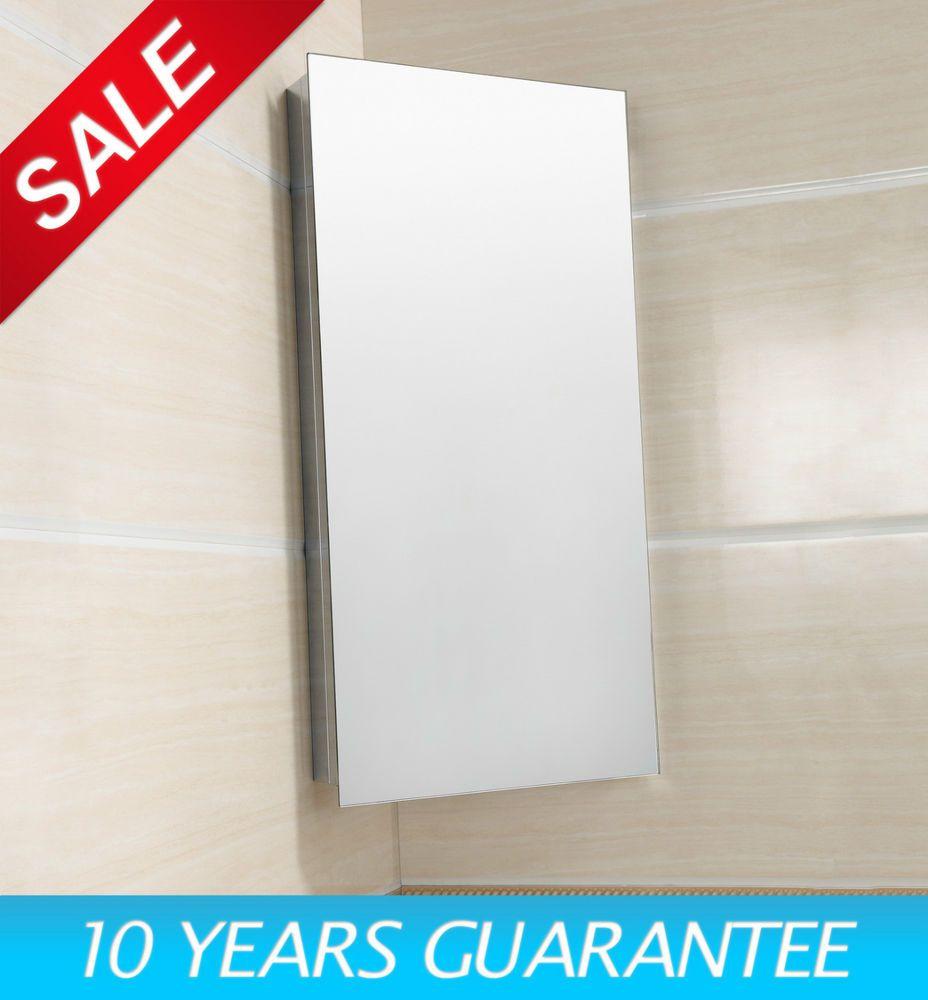 Details about Luxury Stainless Steel Wall Corner Mirror Storage ...