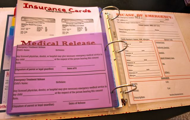 Family  Babysitter Reference Kit \u2013Editable, Emergency Contact - insurance release form