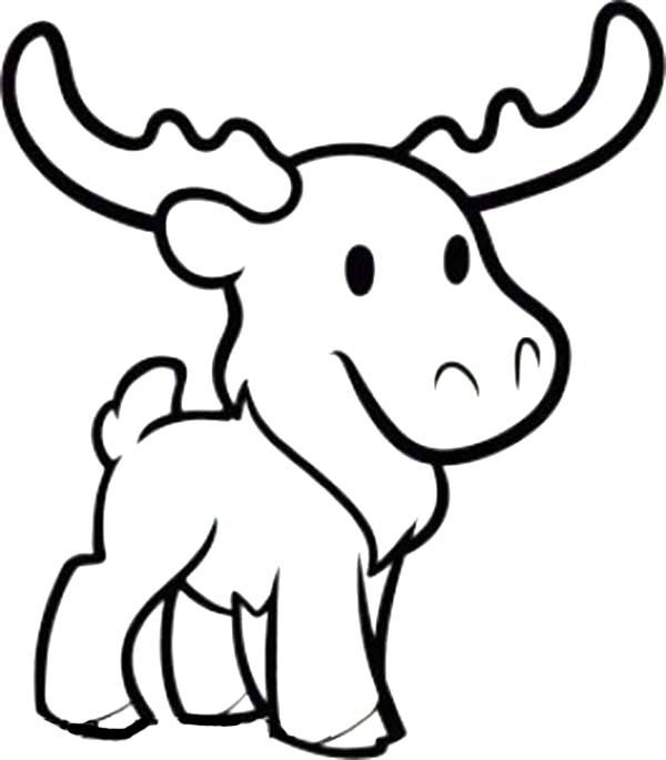 cute moose coloring page download print online coloring pages - Cute Coloring Pics