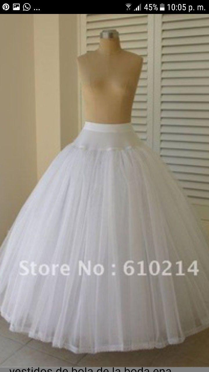 Pin de Nieves Lucini en Vestidos de novias | Pinterest | Enaguas ...