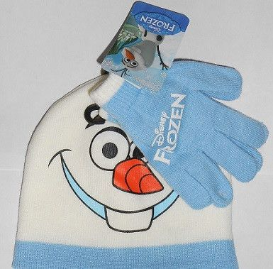 Disney FROZEN Olaf Knit Hat and Gloves SET  ::  FREE MONOGRAM