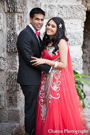 Indian Wedding Portraits Reception Outfits Pink Gown Maharaniweddings Gallery