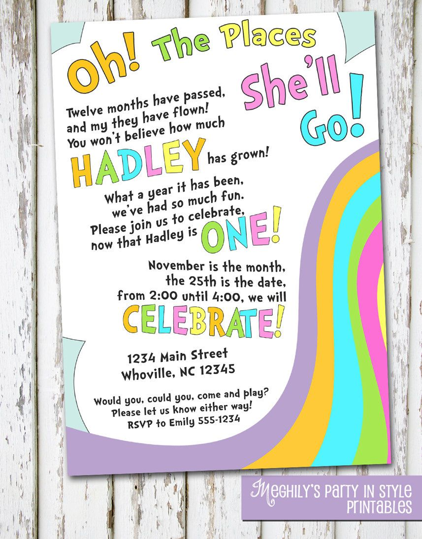 Oh The Places You\'ll Go Birthday Invite | Pinterest | Birthdays ...