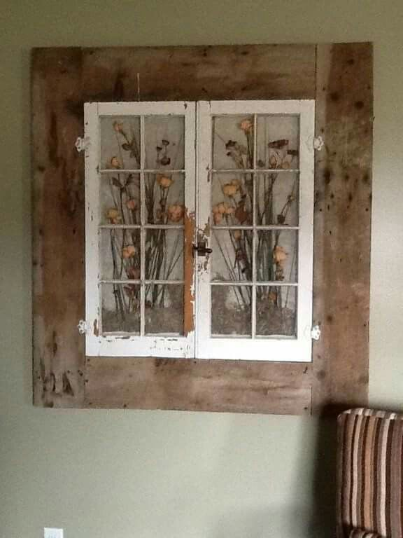 Window Wall Art With Images Barn Wood Crafts Old Barn Wood Diy Wood Projects Furniture