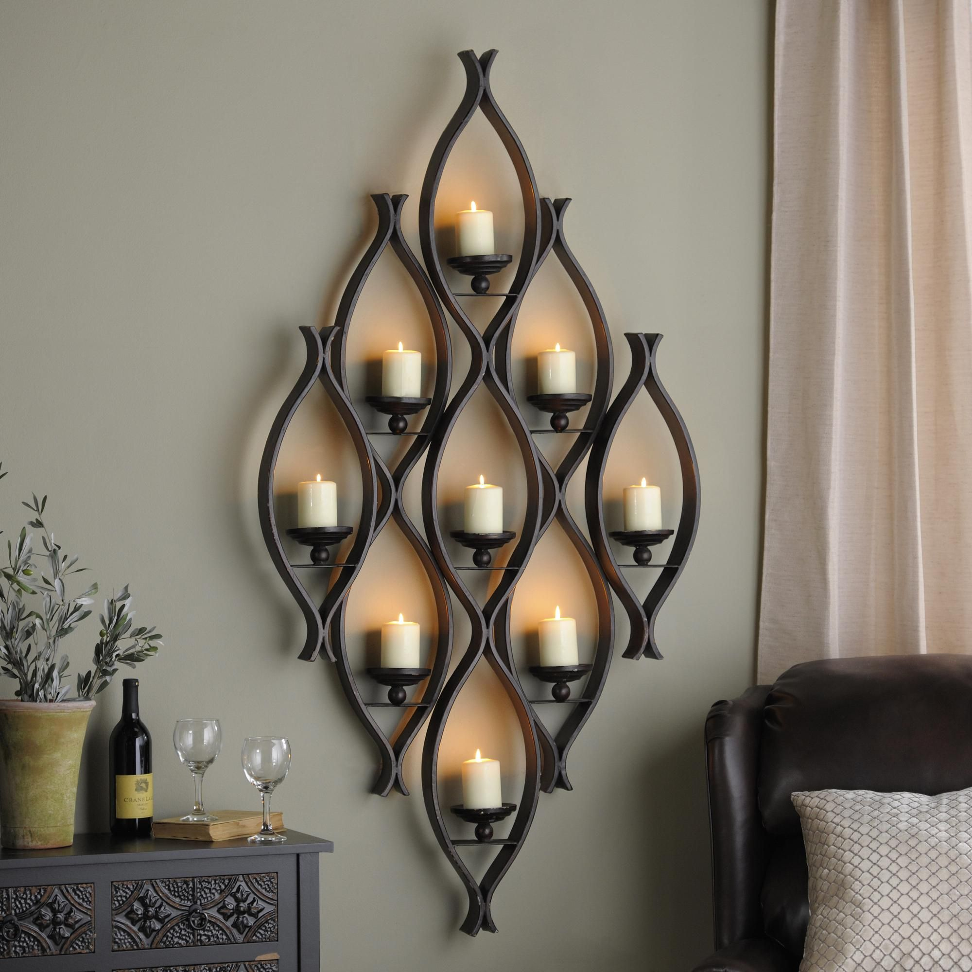 We Can Never Get Enough Of The Tried And True Decor Style Of Sconces And Wall Candle Holders They Add A Sop Wall Candle Holders Wall Candles Candle Wall Decor