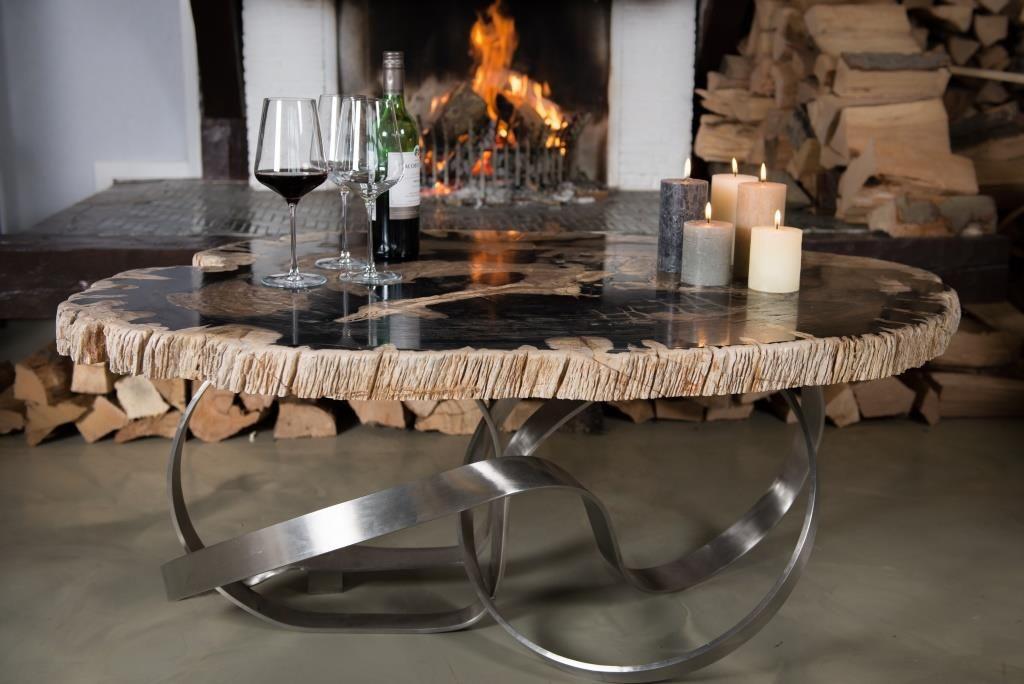 Design petrified wood coffee table table coffee table