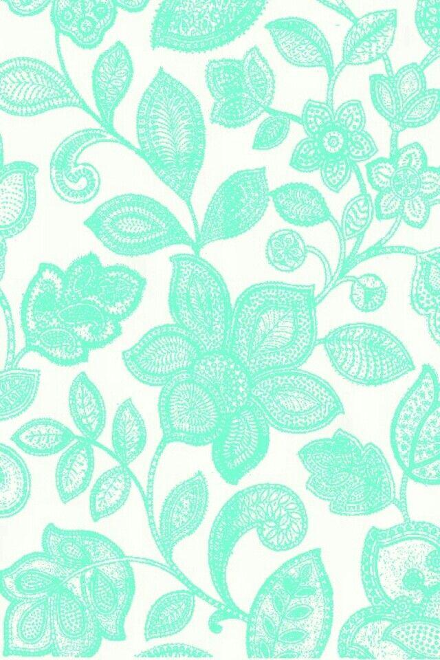 Mint Flower Cute Tumblr Wallpaper Turquoise Floral Wallpaper Lace Wallpaper
