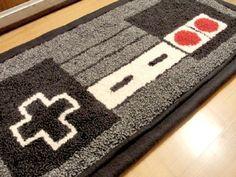Nes Nintendo Controller Rug Gaming Decor Gamer Room Video Game