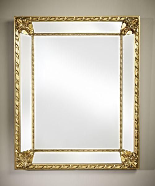 Deknudt Mirrors Decora 2717 222 Castello Gold Mirror Accent Mirrors Mirror Rectangular Mirror