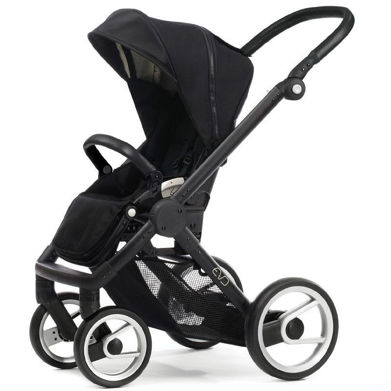 Mutsy Evo Stroller Black seat with Black frame (With