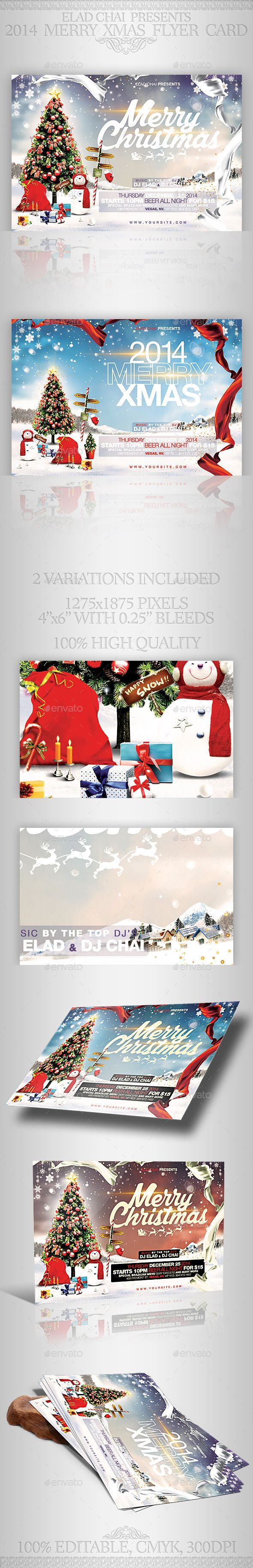 Christmas Flyer Card Template  Christmas Flyer Card