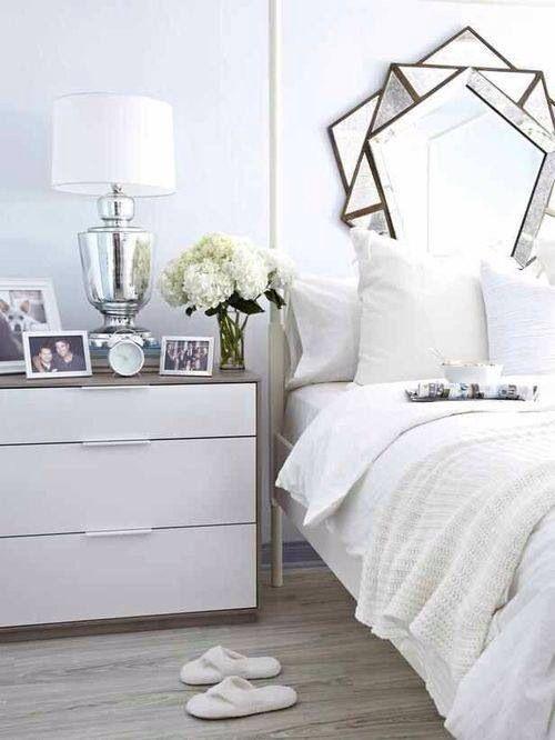 Modern elegant geometric bedroom
