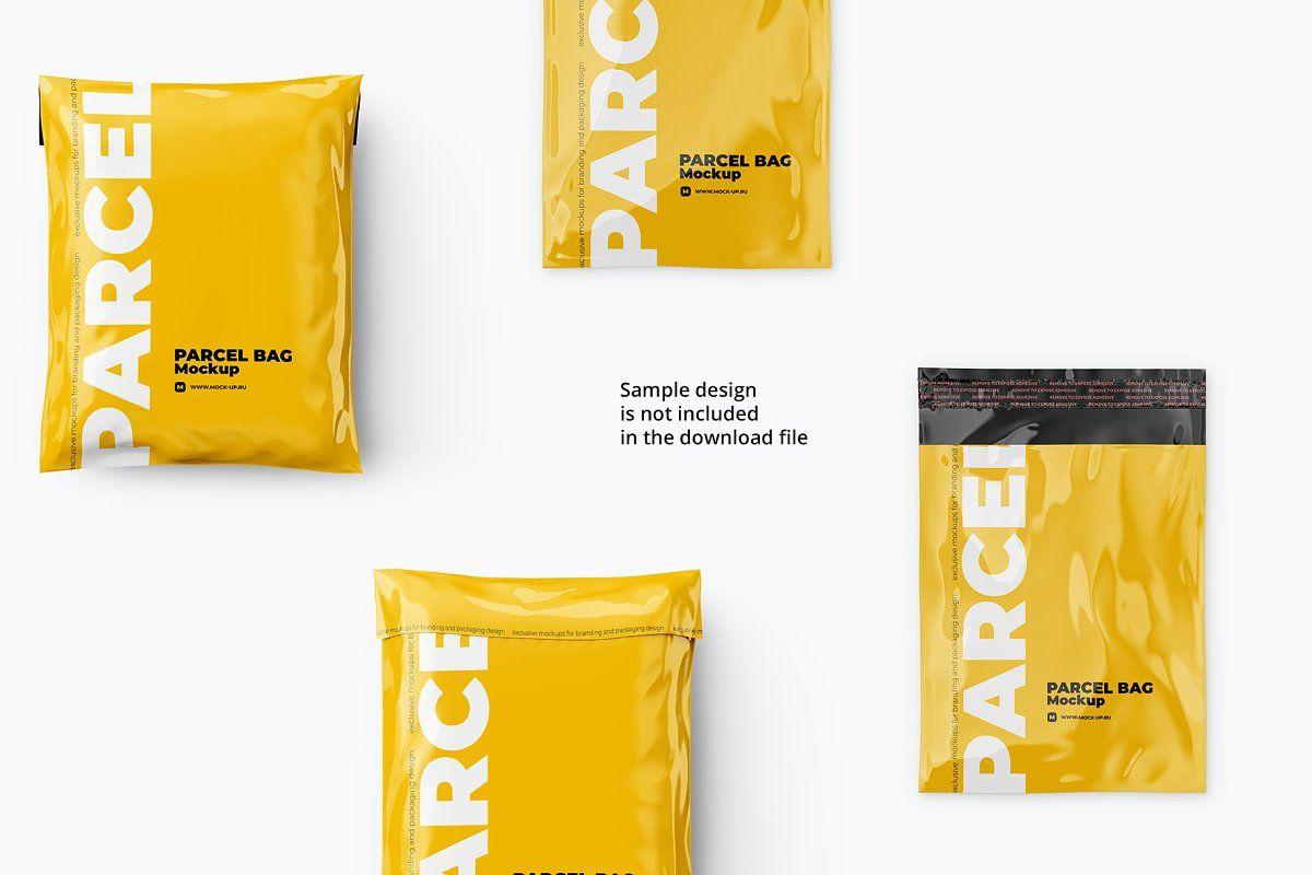 Download Parcel Mailing Shipping Bag 4 Psd Parcel Psd Bag Mockup