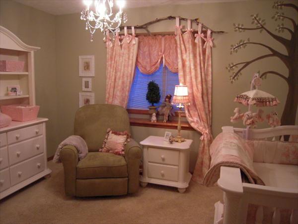 Fairy Princess Nursery Notice The Branch As A Curtain Rod