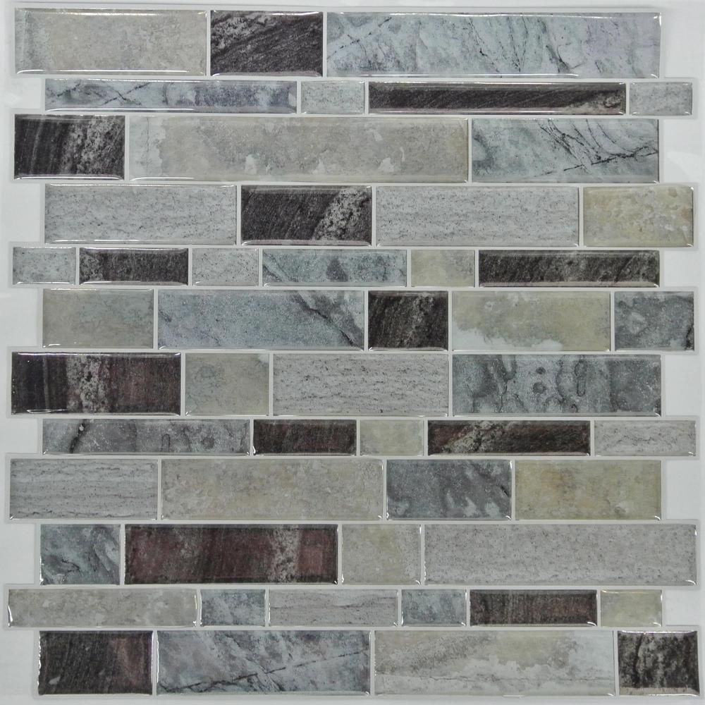 RoomMates Modern Long Stone StickTILES 4-pack 10.5 X 10.5