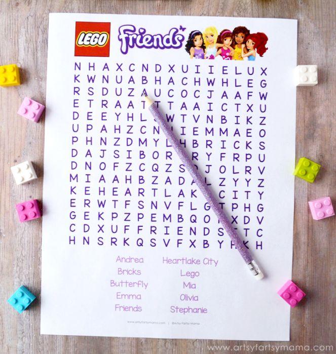 LEGO Friends Party Ideas printables Lego friends party, Lego