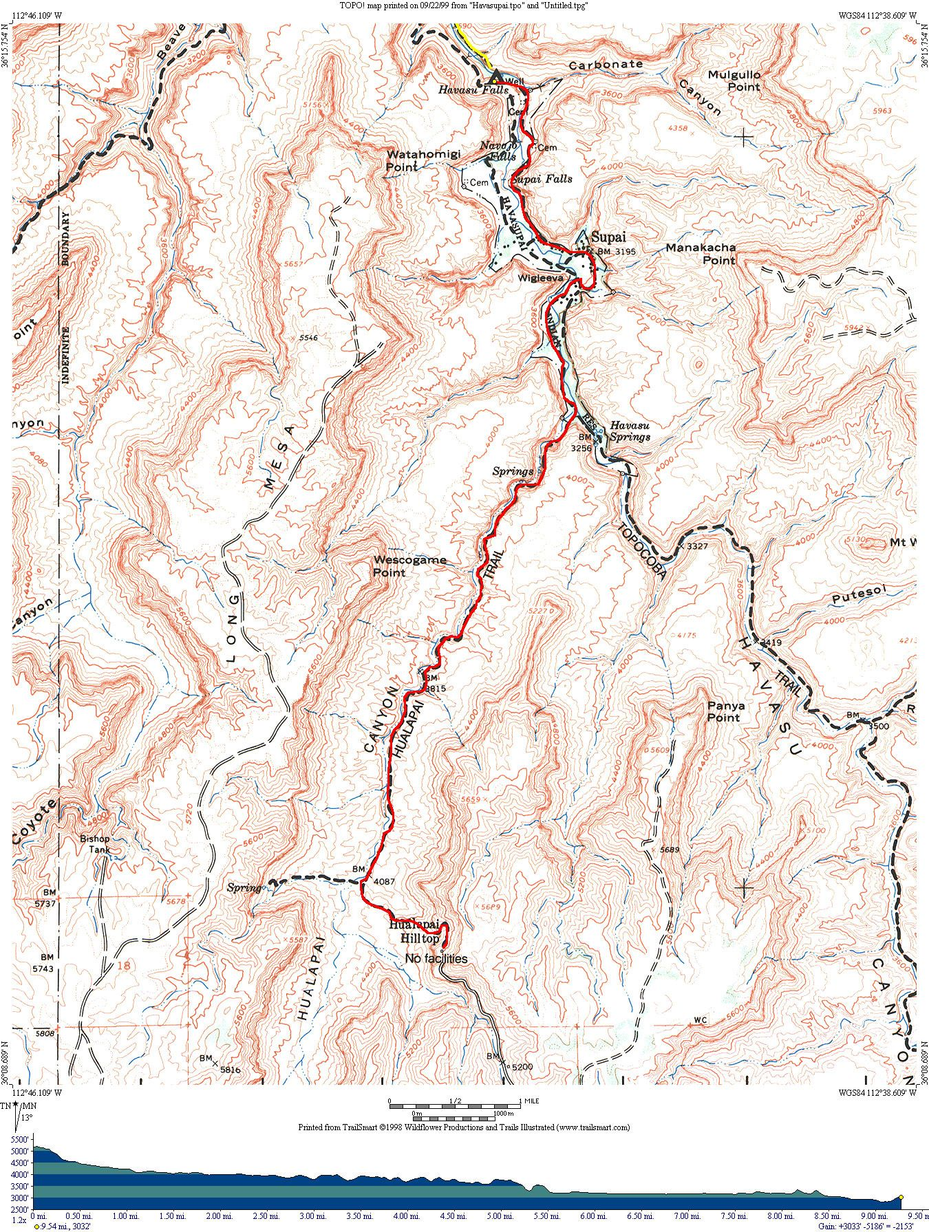 Grand Canyon Havasupai Campground Map Grand Canyon Havasupai - Grand canyon campground map