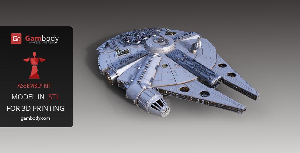 Millennium Falcon 3D Printing Model Standard Assembly