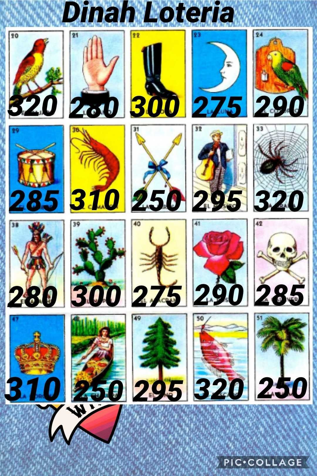 Pin by dinah hernandez on bingo cards in 2020 loteria