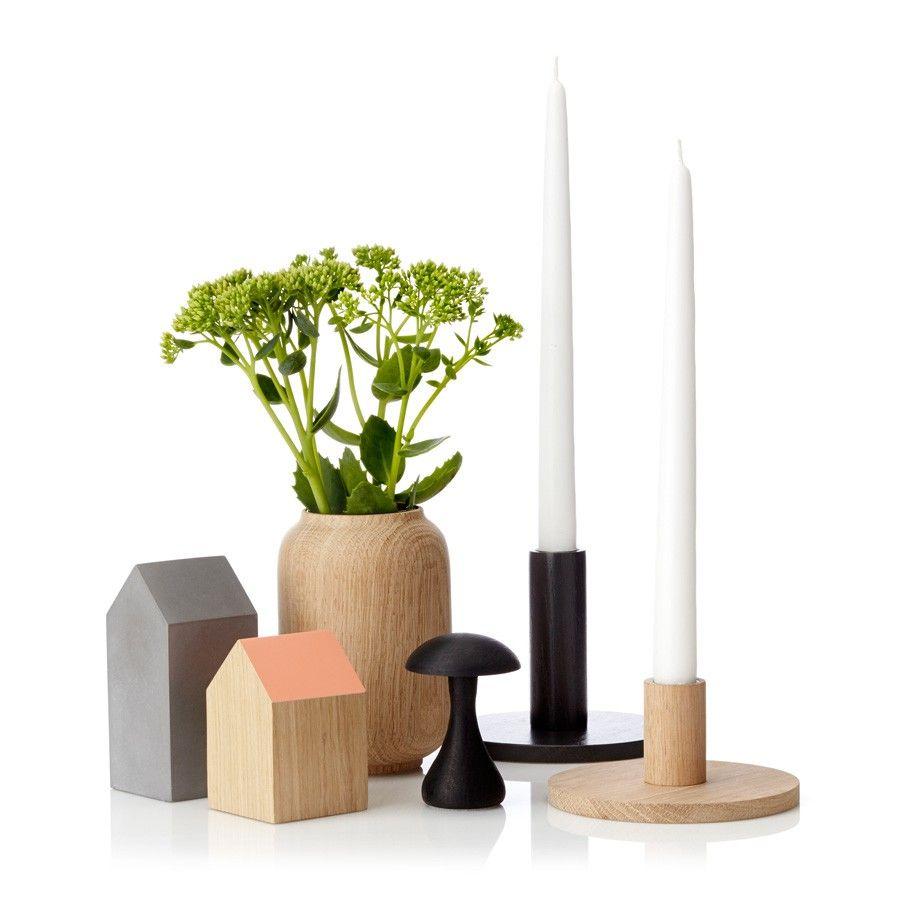 Applicata Vase Poppy Eiche S 10cm Schoner Wohnen Shop Anders Norgaard Hat Die Schlichte Holzvas Wooden Tea Light Holder Tea Light Holder Nordic Interior