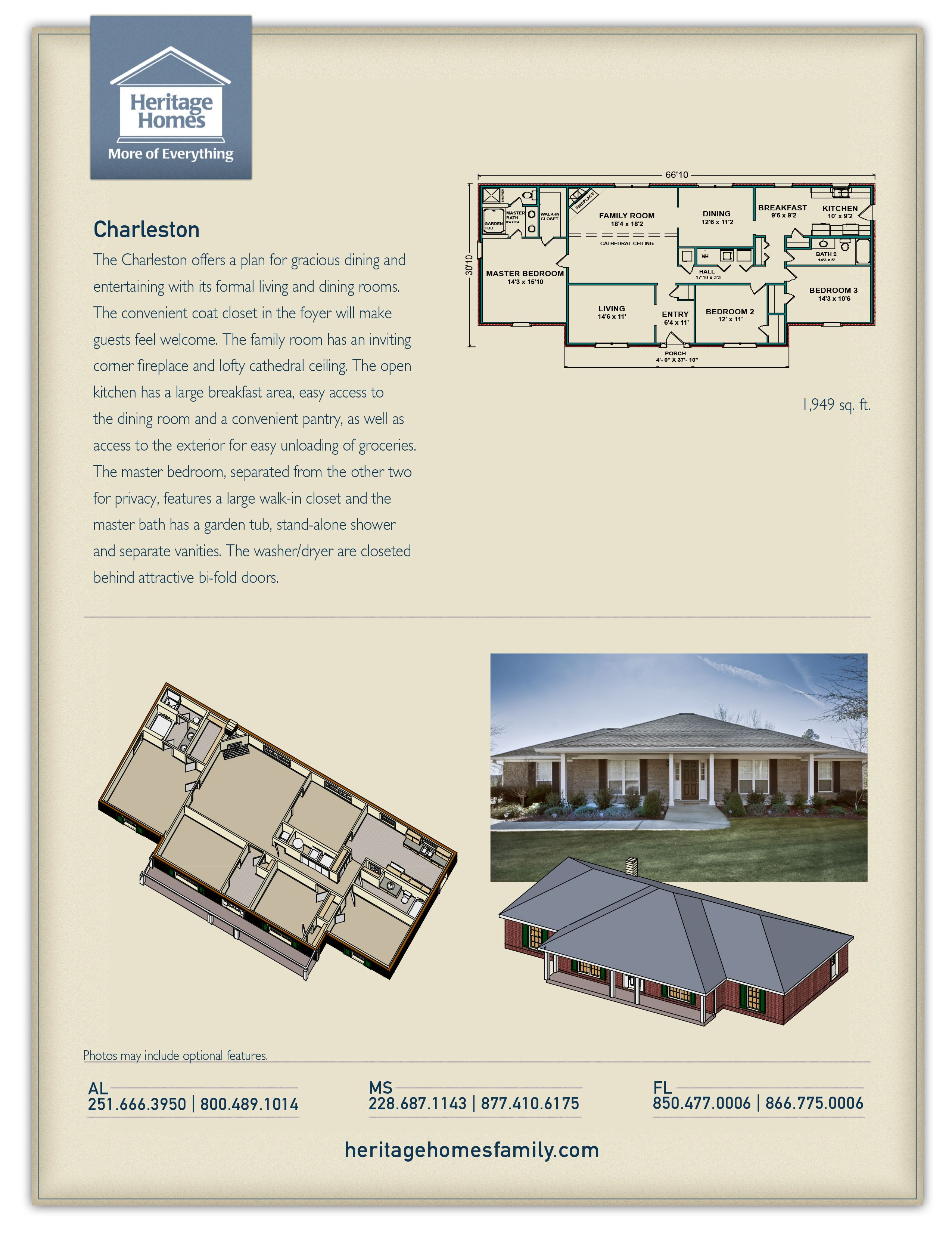 Heritage Homes The Charleston Printable Floor Plan How To Plan Floor Plans Building A House