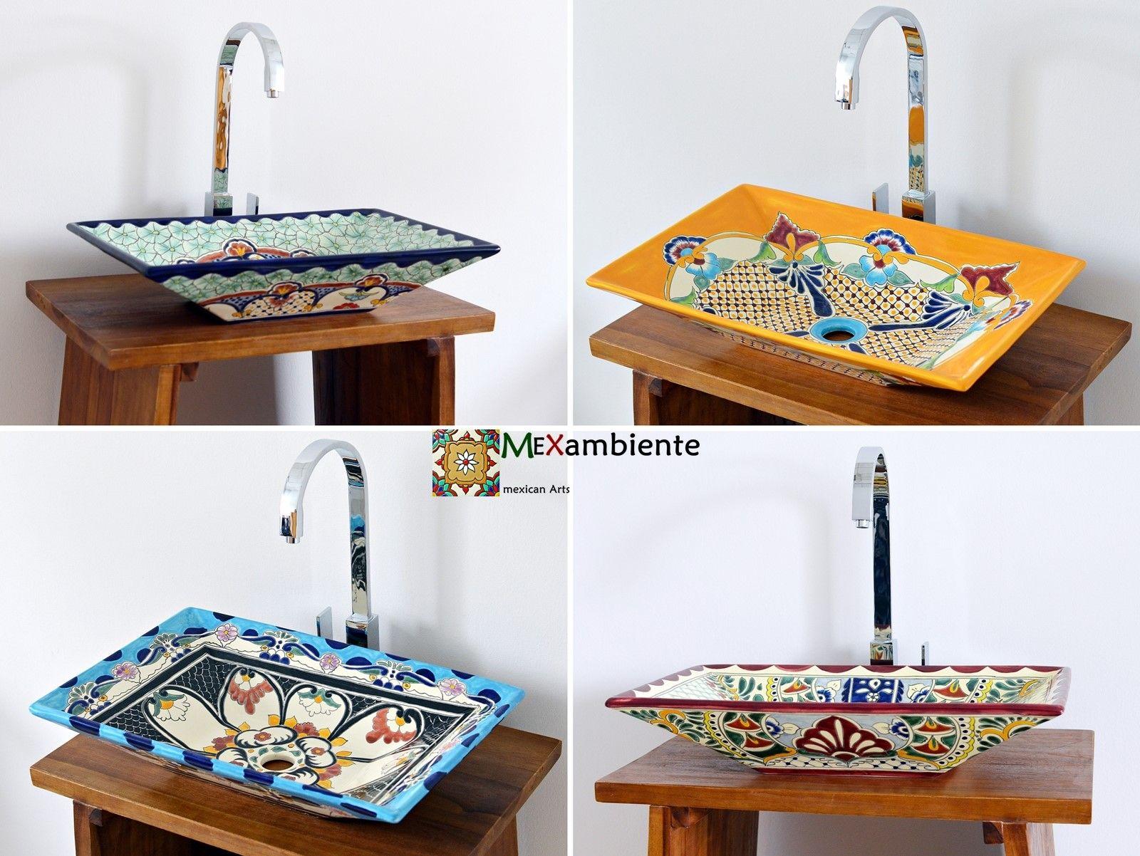 Badezimmer Muster ~ Rechteckige mexikanische waschbecken mit tollen mustern