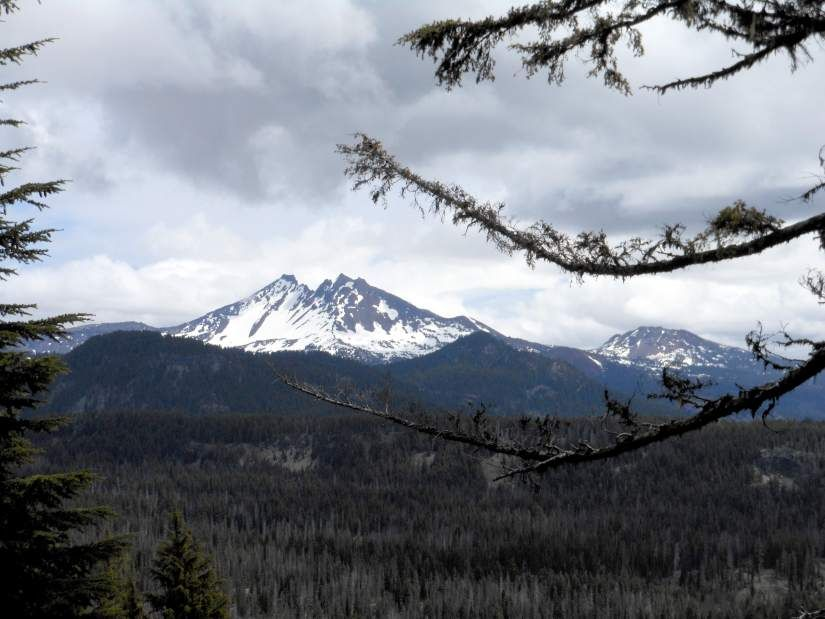 Broken Top, pictured from near the top of Koosah Mountain.
