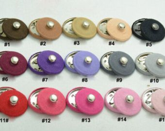 Button for Purse Bags Closure 18mm x 5 sets Invisible Sew-in Magnetic Snap