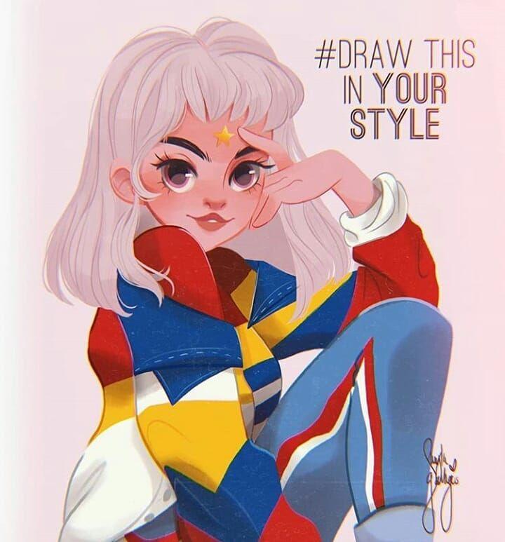 ??drawthisinyourstyle?? sur Instagram: «@sheyla_art avec le #dtiys ? #drawthissheyla. - - - - #drawthisinyourstyle #drawthisinyourstylechallenge #artchallenge # dtiys… »