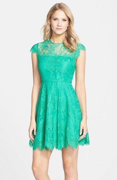 b5c640839ce BB Dakota  Rhianna  Illusion Yoke Lace Fit   Flare Dress