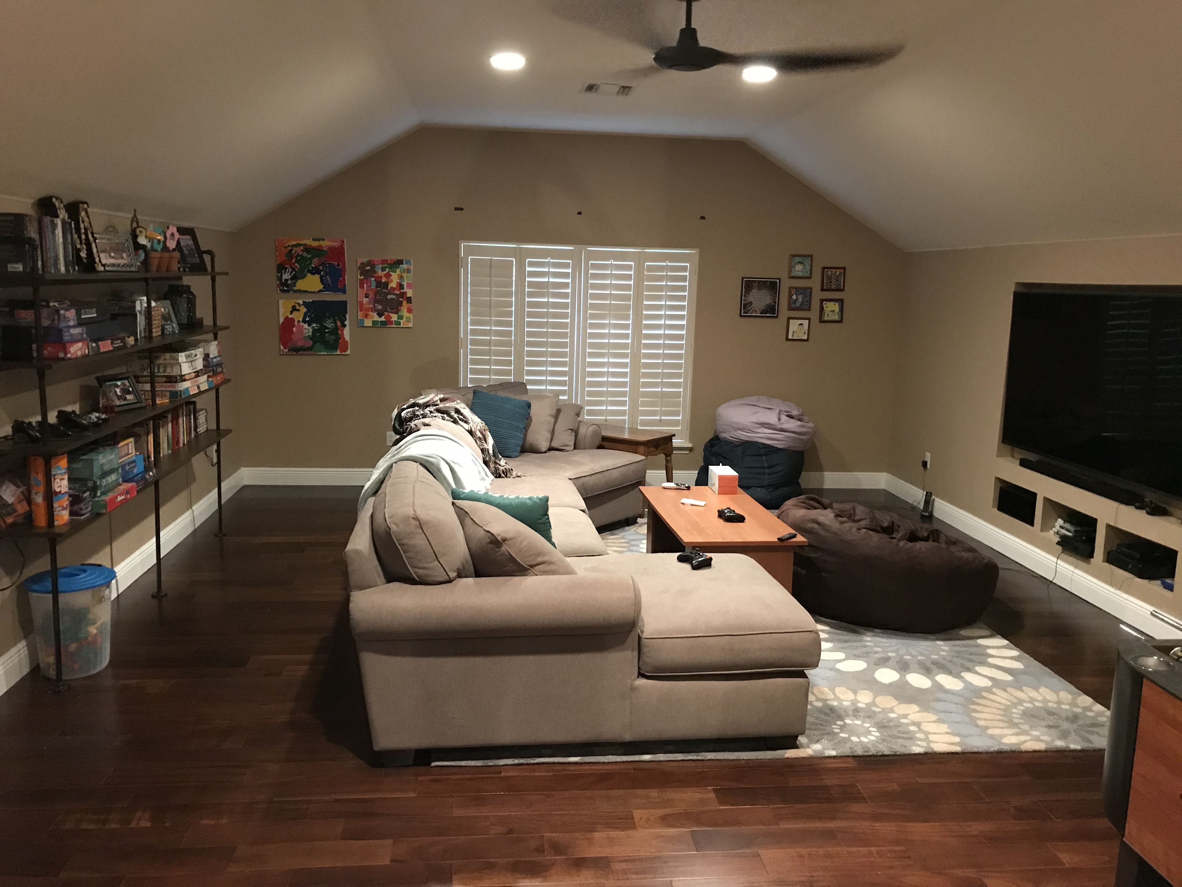 Bonus Room Over The Garage Now A Teenage Game Room Bonus Room Bonus Rooms Updating House