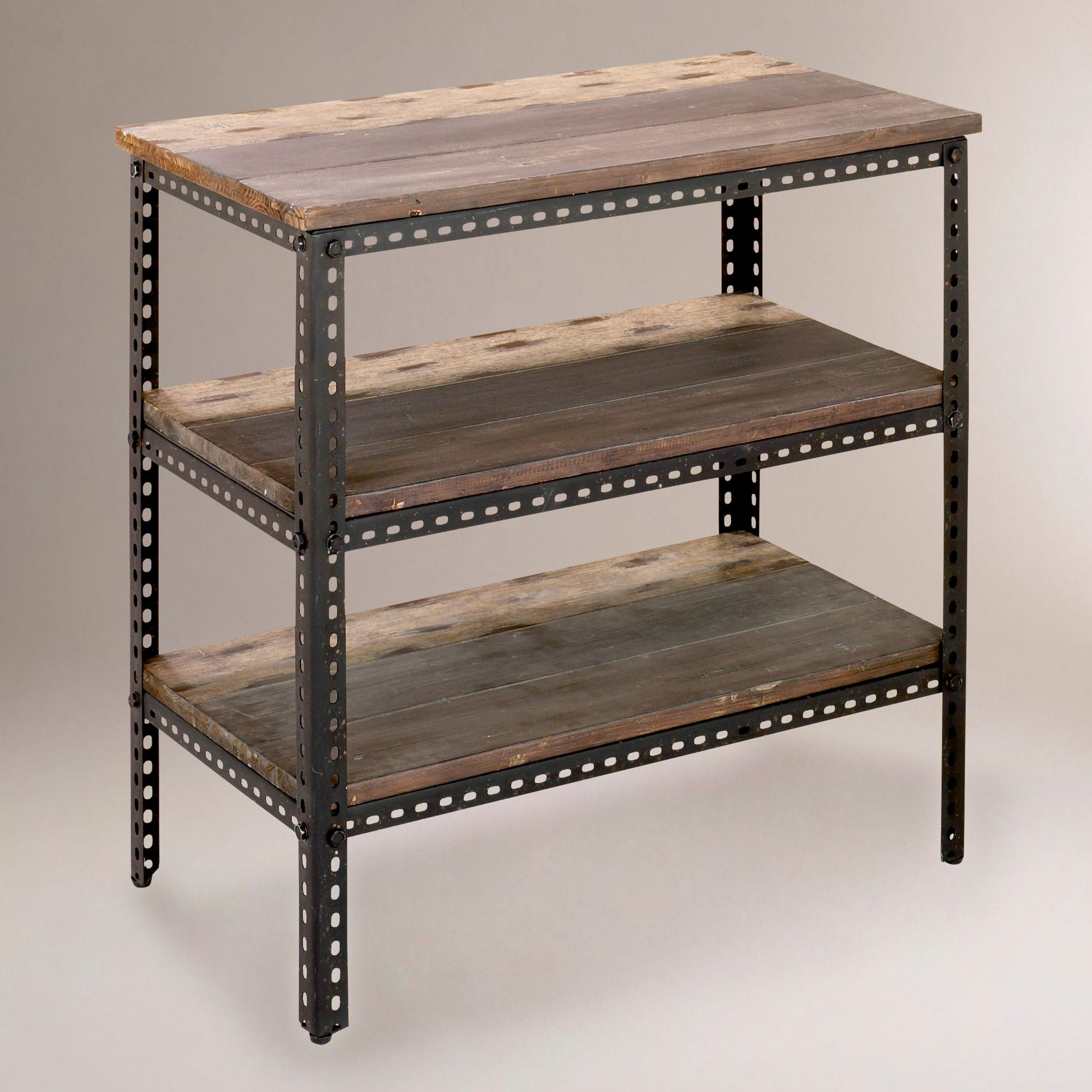 This looks easy enough to make myself! 3-Shelf Industrial Metal ...